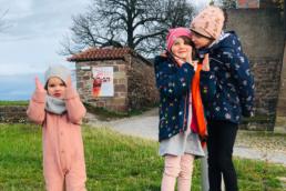 Die Crew von Kinder in Erfurt: Meine Kinder, die alles mit mir gemeinsam testen und erleben.