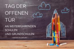Titelbild Tag der offenen Tür an weiterführenden Schulen und Grundschulen