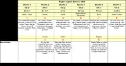 Regler Jugendsommer Timetable