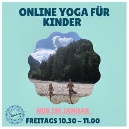 Onlinekurs für Kinderyoga Flyer